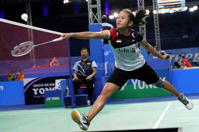 Pebulutangkis Aurum Oktavia Winata makin percaya diri usai menjuarai USM Indonesia International Series (UIIS) 2018, di Semarang, Jawa Tengah, kemarin. (PBSI)