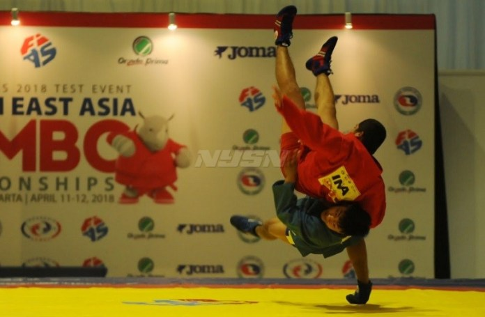 Test event cabang olahraga (Cabor) Sambo di Jakarta, ternyata sulit dijadikan parameter mengkukur kekuatan lawan. (Pras/NYSN)