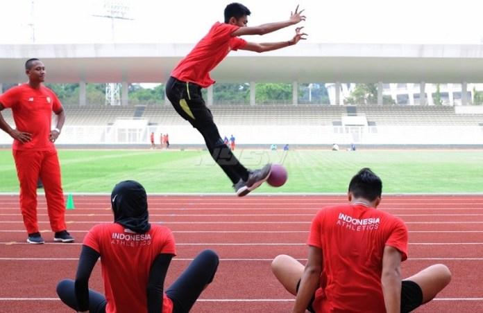 Beberapa atlet cabor atletik akan bertandinga dalam Kejuaraan Nasional (Kejurnas) Atletik, di Stadion Madya Senayan, Jakarta, 6-12 Mei 2018. (Pras/NYSN)