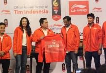 Jersey apparel dari China, Li-Ning, menjadi sponsor resmi seragam Kontingen Indonesia, di Asian Games 2018. (IndoTimes.com)