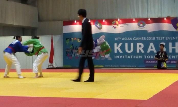 Sebanyak 8 negara mengikuti test event Asian Games 2018 cabang kurash di Hotel Sultan, Senayan, Jakarta, 5-6 Mei 2018. (Adt/NYSN)