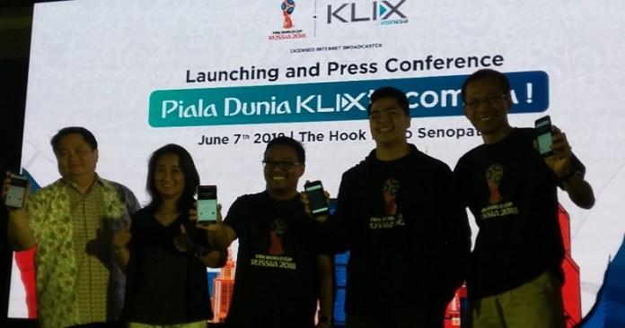 (Ki-ka) David Khim (CEO FMA), Ros Haniza (CEO KLIX TV), Yazrie Shukri (Founder KLIX Media), Nadhif Kasyvilla (Founder Visinesia), dan M. Arif Junaedi (Country Head KLIX TV, Indonesia). (art-NYSN)
