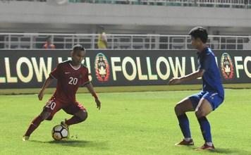Winger Persija Jakarta, Riko Simanjuntak (20), diturunkan Timnas U-23 sebagai starter, dalam laga kontra Thailand U-23, pada Minggu (3/6) malam. (Pras/NYSN)