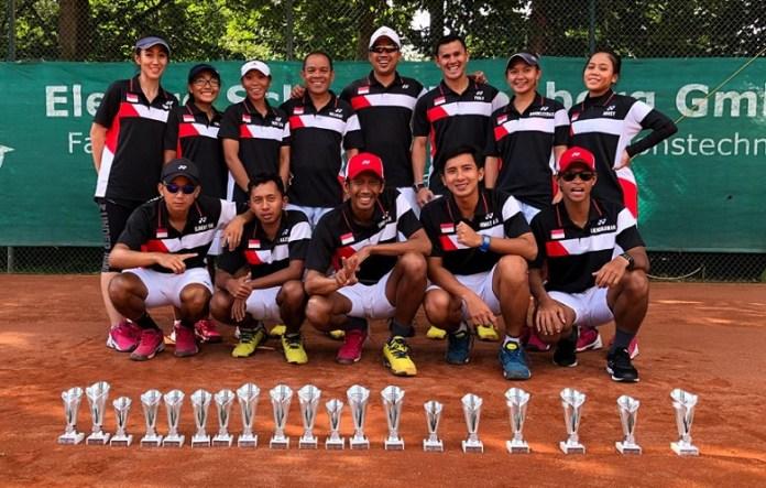 Timnas Pelatnas soft tenis Indonesia meraih enam medali emas di turnamen 'The 11th Soft Tennis German Open 2018', sekaligus event ujicoba Asian Games 2018. (net)