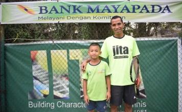 Falen, murid didik dari Jakarta International Tennis Academy.