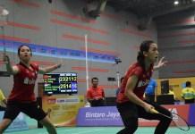 Kalahkan unggulan pertama asal China, Liu Xuanxuan/Yuting Xia, 25-23, 14-21 dan 21-15, Febriana Dwipuji Kusuma/Ribka Sugiarto lolos babak final Asia Junior Championship 2018. (Ham/NYSN)