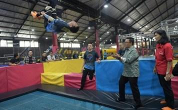 Imam Nahrawi (Menpora) berharap cabang olahraga (cabor) senam trampoline dipertandingkan di Pekan Olahraga Pelajar Nasional (Popnas) 2019 dan Pekan Olahraga Nasional (PON) 2020 Papua. (Kemenpora)