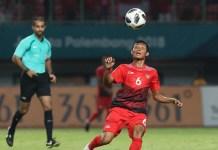Merotasi beberapa pemain, usai menang telak kontra Taiwan U-23 di partai perdana, pelatih Luis Milla mengistirahatkan nama Evan Dimas Darmono, saat Timnas U-23 takluk 1-2 dari Palestina, pada Rabu (15/8). (INASGOC)