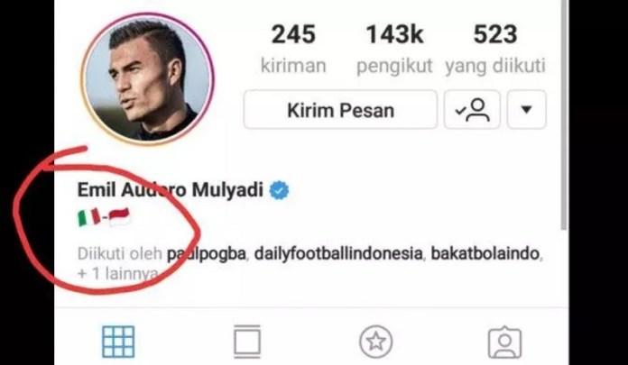 Penjaga gawang berdarah Italia Indonesia, Emil Audero Mulyadi, yang kini bermain untuk Sampdoria di kompetisi Liga Serie A Italia, dikabarkan berharap bisa membela Timnas Merah Putih, usai memasang bendera Indonesia di halaman profil media sosialnya. (instagram)