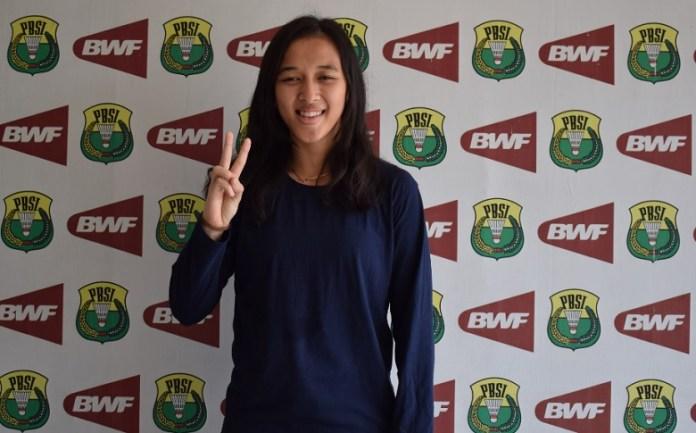Juara Bulutangkis nomor ganda putri Kejuaraan Asia Junior 2018, Febriana Dwipuji Kusuma, yang bercita-cita mulia menjadi guru. (Ham/NYSN).