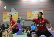 Unggulan pertama ganda campuran event Malaysia International Junior Open 2018 asal Indonesia, Rehan Naufal Kusharjanto/Siti Fadia Silva Ramadhanti, takluk dari seeded 8, Ghifari Anandaffa Prihardika/Lisa Ayu Kusumawati, di babak final. (Pras/NYSN)