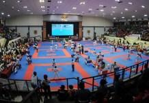 Kejuaraan Nasional (Kejurnas) Karate Piala Panglima TNI-VI/2018 resmi dihelat di Gelanggang Olahraga (GOR) Ahmad Yani, Markas Besar Tentara Nasional Indonesia (Mabes TNI), Cilangkap, Jakarta Timur (Jaktim), pada 21-23 September ini. Federasi Olahraga Karate-Do Indonesia (Forki) DKI Jakarta mengincar posisi Juara Umum kali ini.(Pras/NYSN)