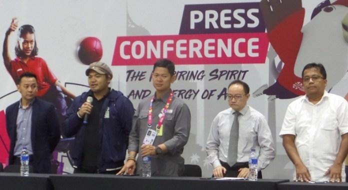 Usai meluncurkan pernak-pernik Asian Para Games 2018, INAPGOC menyebut terdapat 8 titik yang bisa dikunjungi masyarakat untuk bisa mendapatkan merchandise kompetisi olahraga para atlet disabilitas se-Asia 2018 ini. (Adt/NYSN)