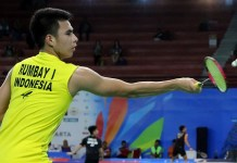 Tunggal junior Ikhsan Leonardo Imanuel Rumbay gagal lolos ke semifinal ajang Youth Olympic Games 2018, di Buenos Aires, Argentina. (PBSI)