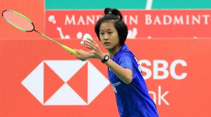 Putri Kusuma Wardani menyumbang kemenangan bagi kubu Indonesia, usai menang dari wakil Inggris Freya Redfearn, straight game, 21-14, 21-17. Indonesia ke perempat final berjumpa dengan Denmark, pada Kamis (8/11). (Dok. Humas PBSI)