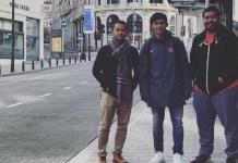 Bek kiri Timnas U-19, Firza Andika (jaket biru), saat ini sudah tiba di Brussel, Belgia. Firza akan memulai trial selama tiga pekan bersama klub Divisi 2 Belgia, AFC Tubize, hingga 25 November 2018. (instagram)