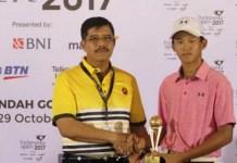 Jose Emmanuel Suryadinata meraih bekal bagus mempersiapkan diri tampil di ajang Pekan Olahraga Nasional (PON) 2020 di Papua. Pegolf 16 tahun asal Jawa Timur itu, berhasil menempati posisi kedua, di Turnamen BRI Junio Internasional Junior Golf Championship 2018, di Lapangan Golf Pondok Indah, 17-20 Desember. (mediaindonesia.com)