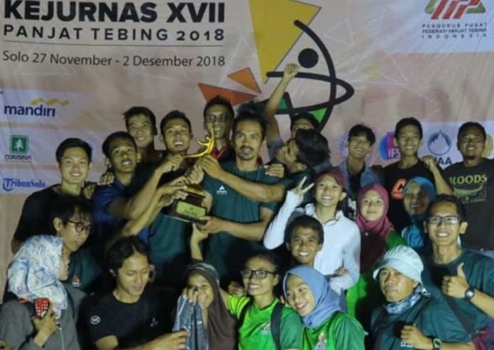Jawa Timur Juara Umum Kejurnas XVII Panjat Tebing 2018