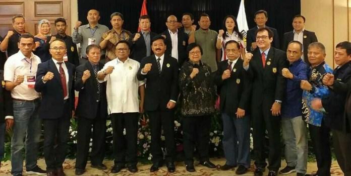 Ketua Umum PB FORKI periode 2019-2023 Panglima TNI Marsekal Hadi Tjahjanto bersama dengan pengurus yang baru akan bergerak cepat menyiapkan atlet ke Olimpiade 2020, Tokyo, Jepang. (Adt/NYSN)