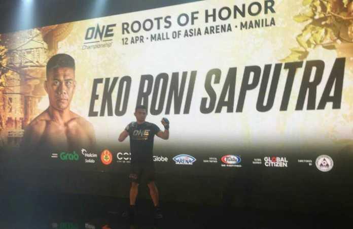 Eko Roni Saputra baka melakoni debut perdana di ajang One Championship di Mall of Asia Arena, Manila, Filipina, pada 12 April 2019. Ia optimis meraih gelar Juara Dunia One Flyweight. (Adt/NYSN)