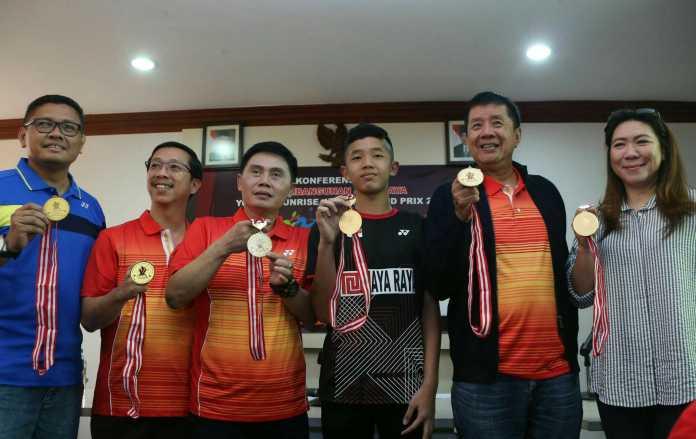 Sebanyak 776 pebulutangkis turut meramaikan turnamen bertajuk 'Pembangunan Jaya Raya Yonex Sunrise Junior Grand Prix 2019, di GOR PB Jaya Raya Bintaro, Tangerang Selatan, Banten. (Adt/NYSN)