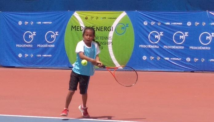 Petenis Musi Banyuasin (Sumatera Selatan), Sherena Valencia memborong gelar juara tunggal dan ganda putri KU-10.