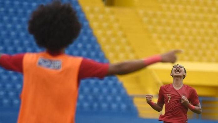 Imbang dengan Myanmar dengan skor 1-1, Indonesia berhasil menjadi juara Group A piala AFF 2019. Foto: Antara`