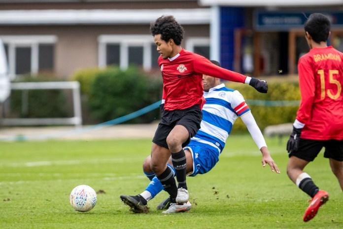 Tim Garuda Select saat menghadapi QPR U-18