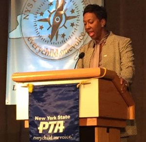 Judge Verda Colvin at NYS PTA Convention 2017