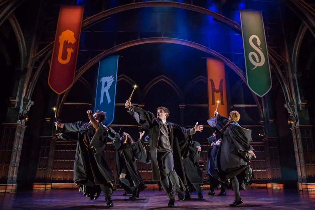 Sam Clemmett (center) in Harry Potter and the Cursed Child. Photo: Matthew Murphy