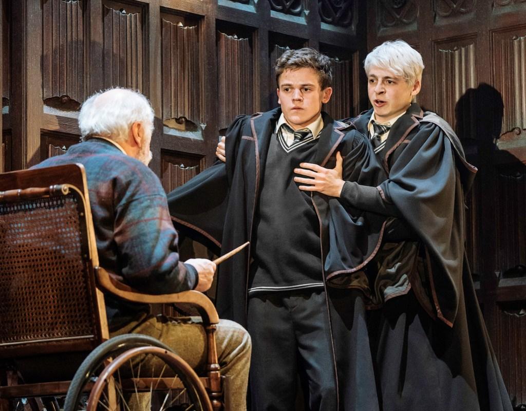 Edward James Hyland, Sam Clemmett & Anthony Boyle in Harry Potter and the Cursed Child. Photo: Manuel Harlan