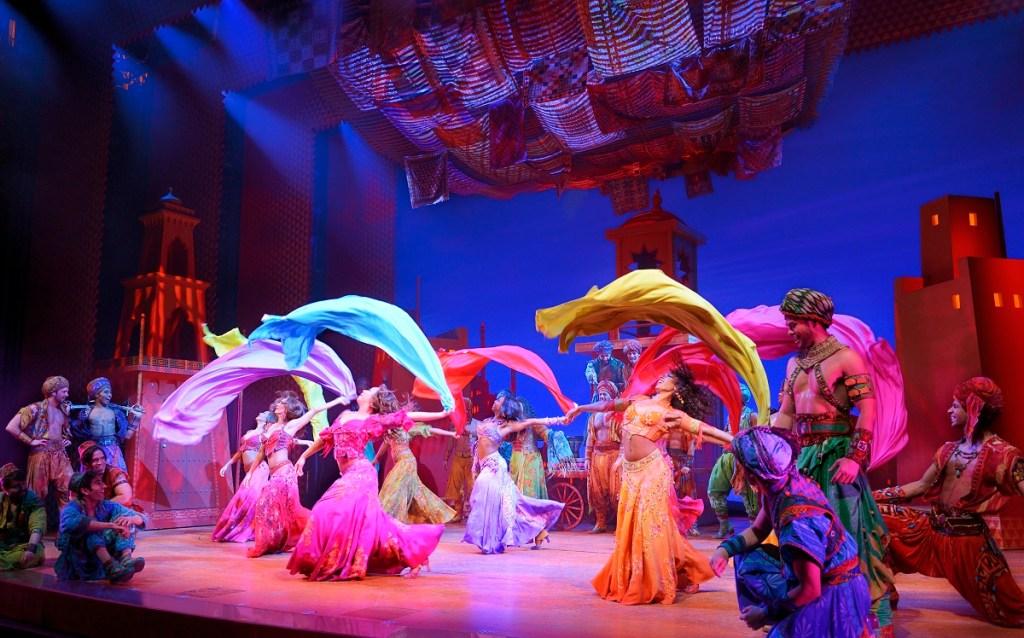 The company in Disney's Broadway musical <i>Aladdin.</i>. Photo: Deen van Meer.