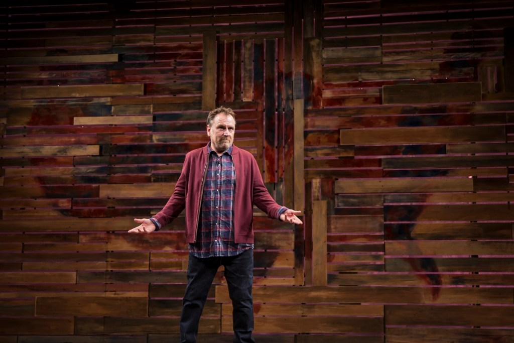Colin Quinn performs his Red State Blue State solo show. Photo: Monique Carboni
