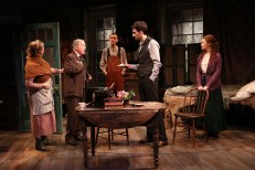 Una Clancy, Robert Langdon Lloyd, Ed Malone, James Russell, and Meg Hennessy in The Shadow of a Gunman. Photo: Carol Rosegg