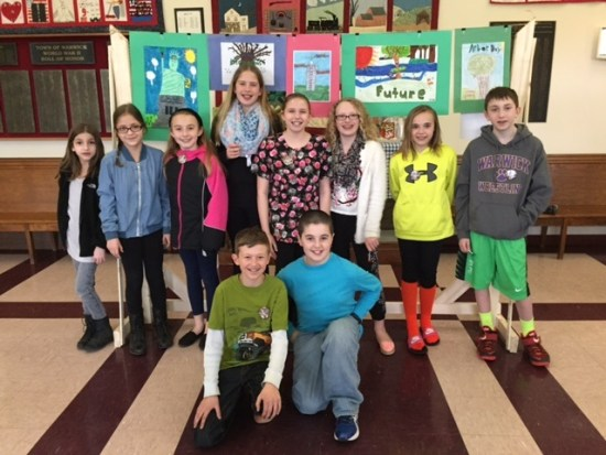 Warwick Arbor Day poster contestants with their artwork.