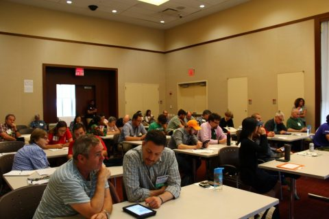 Conference attendees using Stew-Map on iPads