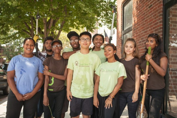 Young urban forester interns Trees New York