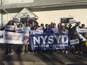 NYSYD Campaigning for State Senator Todd Kaminsky