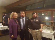 Dutchess County Democratic Chair Elisa Sumner, Dutchess County Young Democrats President John Midwood, and New York State Young Democrats President Mike Corbett