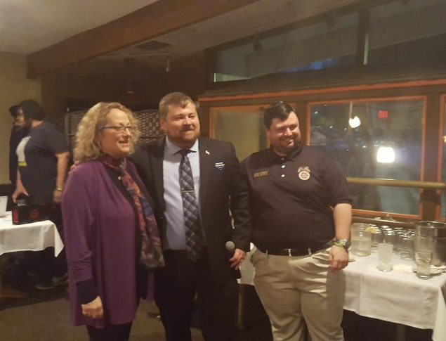 Dutchess County Democratic Chair Elisa Sumner, Dutchess County Young Democrats President John Midwood, and New York State Young Democrats President Mike Corbett