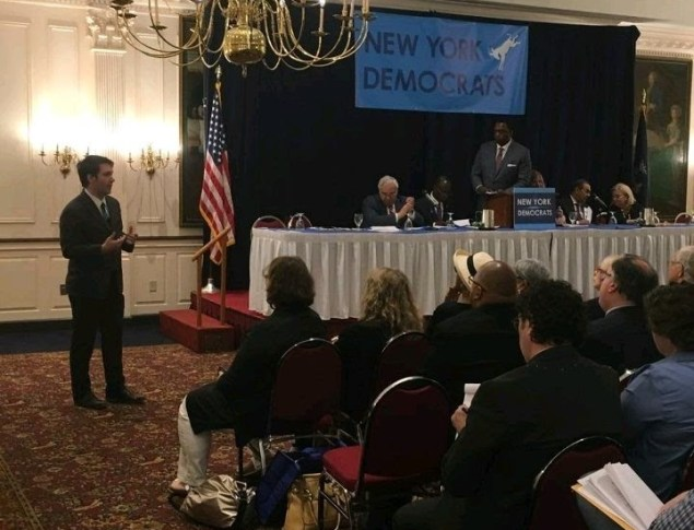 President Patrick Jordan speaking to the New York State Democratic State Committee