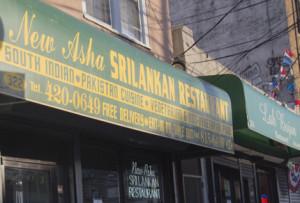 Exterior of New Asha Sri Lankan Restaurant where Chef Devadas serves up authentic fare.
