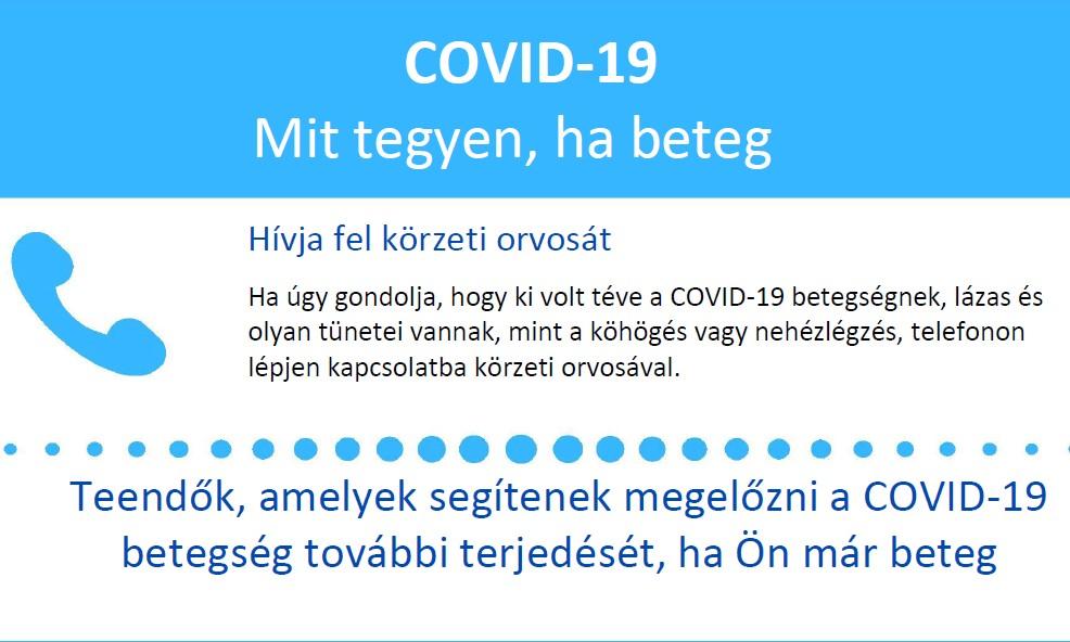 Mit tegyek, ha… COVID útmutató