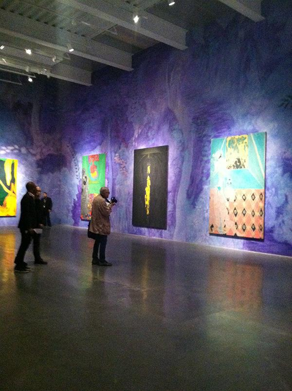 Chris+Ofili%27s+new+show%2C+%22Night+and+Day%2C%22+featuring+colorful+and+jarring+paintings%2C+can+be+found+in+the+New+Museum.