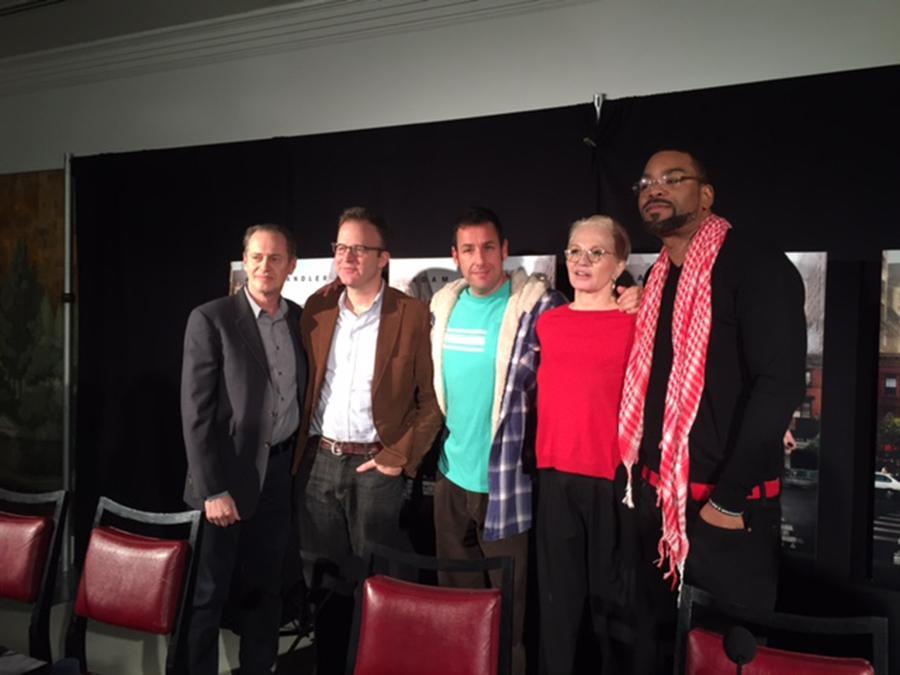 "Steve Buscemi, Tom McCarthy, Adam Sandler, Ellen Barkin and Method Man pose at a screening of ""The Cobbler"" on Feb. 14."