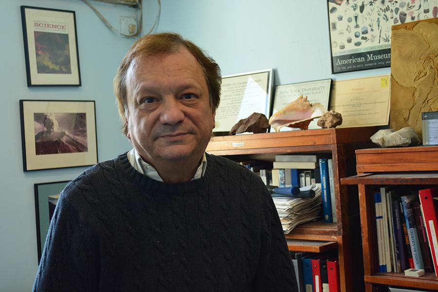 Professor Michael Rampino studies Earth history.