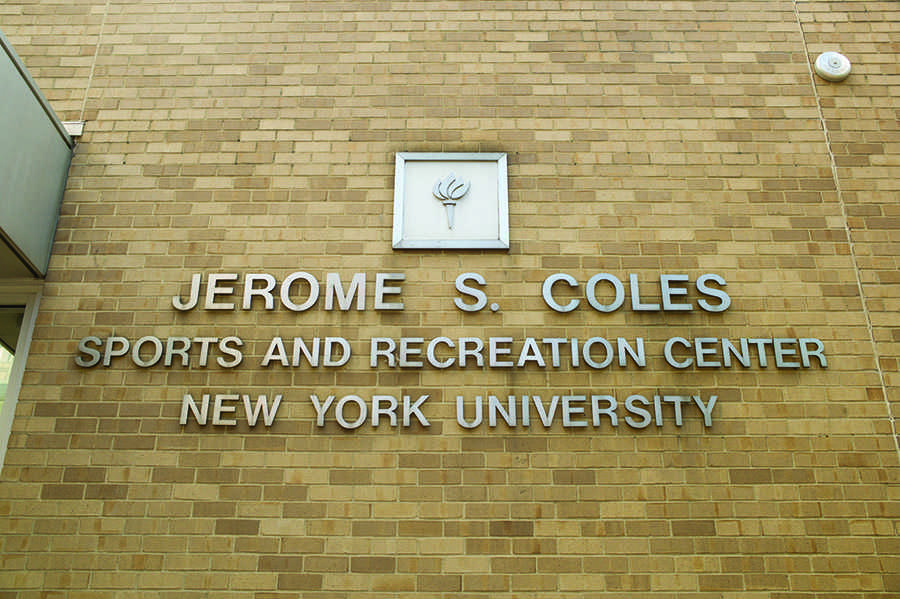 The NYU Coles sports center before the construction.
