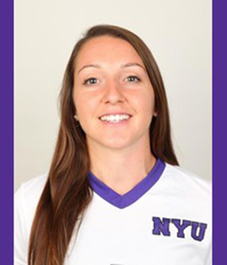 This years women's soccer captain is Senior Melissa Menta.