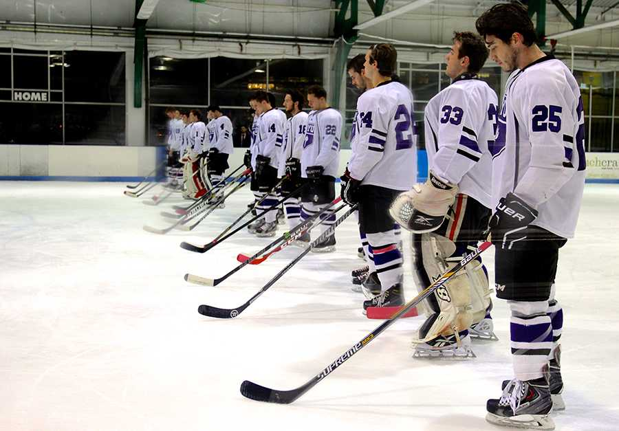 The NYU Ice Hockey team playing at the Sky Rink at Chelsea Piers is a great way to experience a fun sporting event.