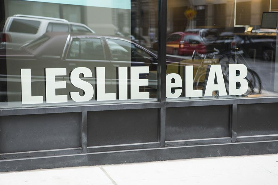 Leslie eLab, located at 16 Washington Place, is where NYU students who work to combat food insecurity Skype their counterparts at other universities. (Photo by Calvin Falk)